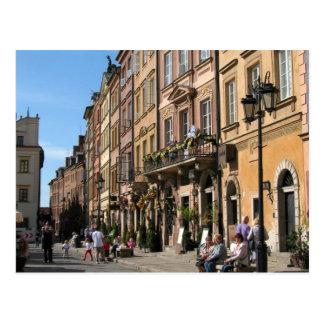 Gemütliche alte Stadt in Warschau Postkarte