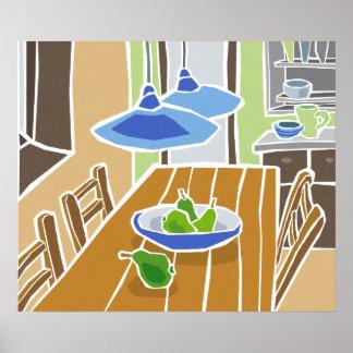 Gemütliche Küche Plakat