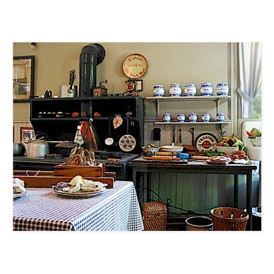 gem tliche k che postkarte zazzle. Black Bedroom Furniture Sets. Home Design Ideas