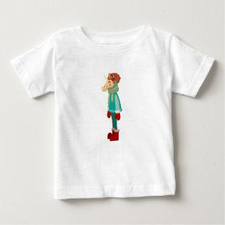 Gemütliches Schal-Einhorn Baby T-shirt