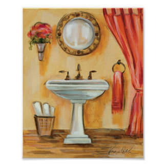 Gemütliches zeitgenössisches Badezimmer Poster