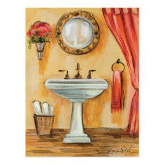 Gemütliches zeitgenössisches Badezimmer Postkarte