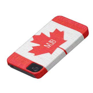 Genähter Kanada-Flaggen-Flecken-Art-Entwurf iPhone 4 Etuis