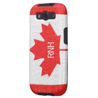 Genähter Kanada-Flaggen-Flecken-Art-Entwurf Galaxy SIII Schutzhülle