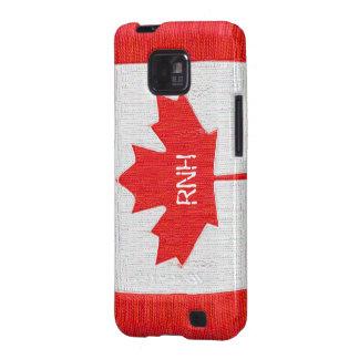 Genähter Kanada-Flaggen-Flecken-Art-Entwurf Galaxy S2 Hüllen