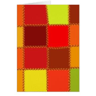 Genähtes Herbst-Patchwork Karte