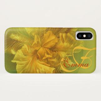 Genannte Iris gelber Kunst iphone Mit Blumenkasten iPhone X Hülle