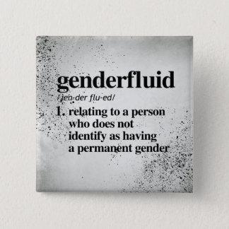 Genderfluid Definition - definierte LGBTQ Quadratischer Button 5,1 Cm