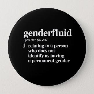 genderfluid Definition - definierte lgbtq Runder Button 10,2 Cm