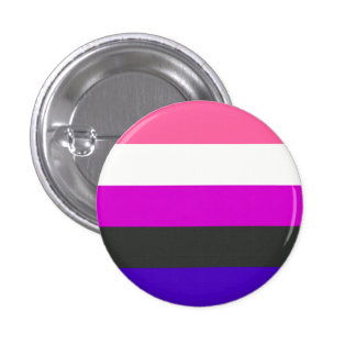 Genderfluid Flagge Runder Button 2,5 Cm