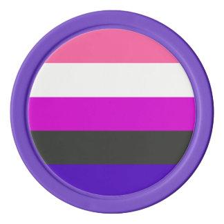 Genderfluid Flagge Pokerchips