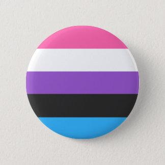 Genderfluid Flaggen-Knopf Runder Button 5,1 Cm