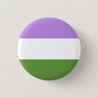 genderqueer Flagge Runder Button 3,2 Cm