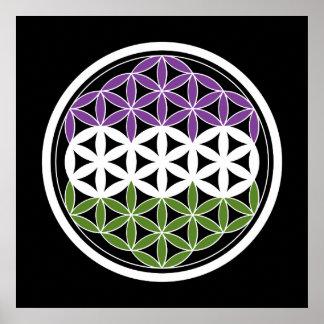 genderQueer heilige Geometrie Poster
