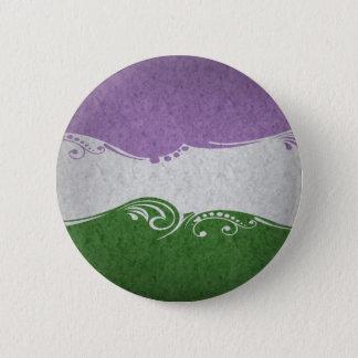 Genderqueer Ornamental-Flagge Runder Button 5,1 Cm