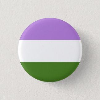 Genderqueer Stolz-Flaggenknopf Runder Button 3,2 Cm