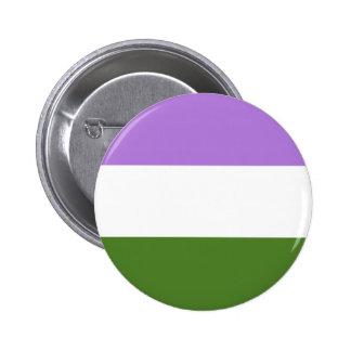Genderqueer Stolzflagge Runder Button 5,1 Cm