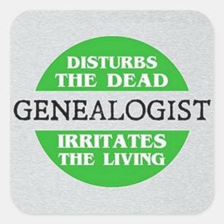 Genealogist stört das tote… quadratischer aufkleber