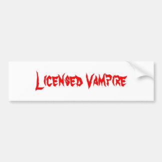 Genehmigter Vampir Autoaufkleber