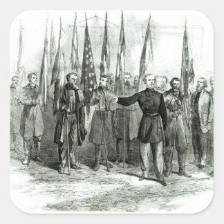 General Custer Quadrataufkleber
