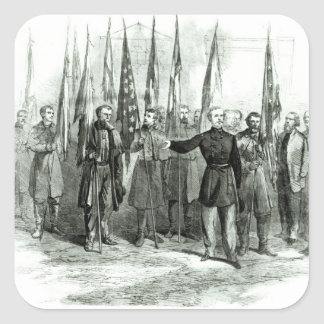General Custer Quadratischer Aufkleber