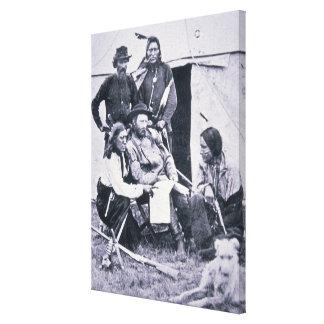 General George A. Custer (1839-76) mit seinem Gespannter Galeriedruck