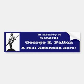 General George S. Patton Autoaufkleber