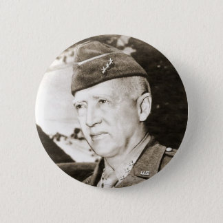 General George Smith Patton Runder Button 5,1 Cm