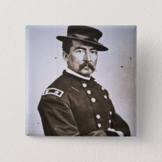 General Philip H. Sheridan (1831-88) (b/w Foto) Quadratischer Button 5,1 Cm