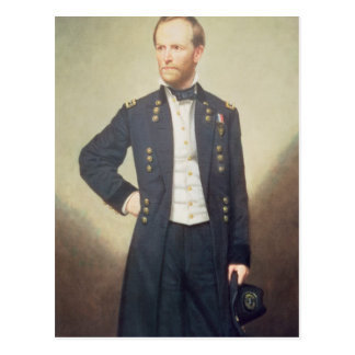 General William Sherman 1866 Postkarte