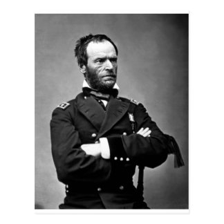 General William Tecumseh Sherman, 1865. Postkarte