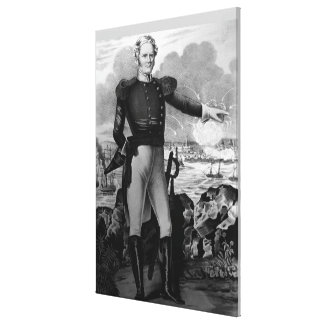General Winfield Scott am Kampf von Veracruz Leinwanddruck
