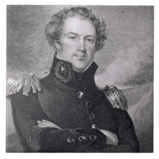 Generalmajor Alexander Macomb (1782-1842), engrav Große Quadratische Fliese