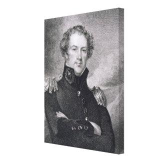 Generalmajor Alexander Macomb (1782-1842), engrav Galerie Falt Leinwand