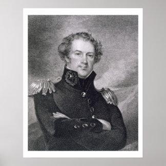 Generalmajor Alexander Macomb (1782-1842), engrav Poster