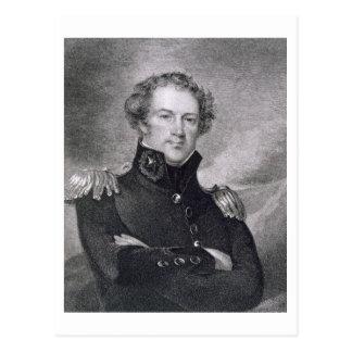 Generalmajor Alexander Macomb (1782-1842), engrav Postkarten