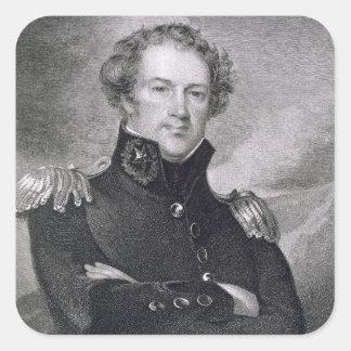 Generalmajor Alexander Macomb (1782-1842), engrav Quadratischer Aufkleber