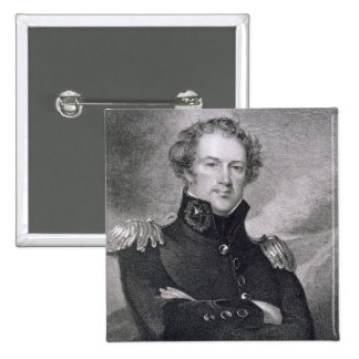 Generalmajor Alexander Macomb (1782-1842), engrav Quadratischer Button 5,1 Cm