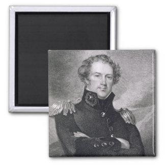 Generalmajor Alexander Macomb (1782-1842), engrav Quadratischer Magnet