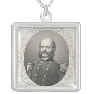Generalmajor Ambrose Everett Burnside Halskette Mit Quadratischem Anhänger