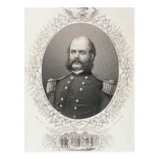 Generalmajor Ambrose Everett Burnside Postkarte