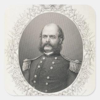 Generalmajor Ambrose Everett Burnside Quadratischer Aufkleber