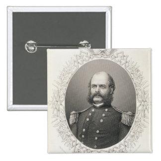 Generalmajor Ambrose Everett Burnside Quadratischer Button 5,1 Cm