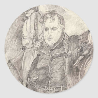 Generalmajor Andrew Jackson Runder Aufkleber