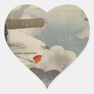 Generalmajor ÅŒdera an der Klippe durch Ogata Herz Sticker