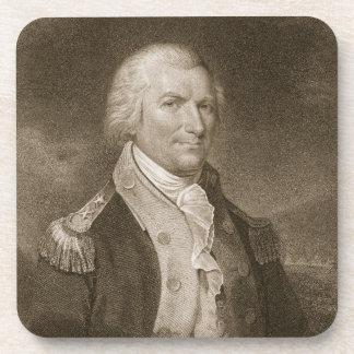 Generalmajor-Arthur-St. Clair, graviert von Edward Drink Untersetzer