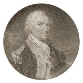 Generalmajor-Arthur-St. Clair, graviert von Edward Flacher Teller