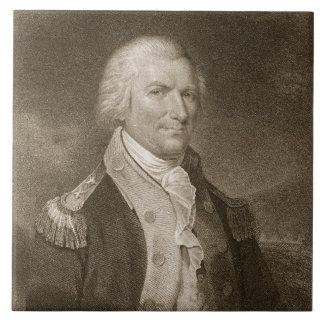 Generalmajor-Arthur-St. Clair, graviert von Edward Große Quadratische Fliese