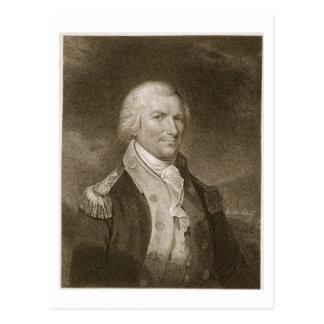 Generalmajor-Arthur-St. Clair, graviert von Edward Postkarte