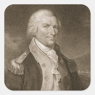 Generalmajor-Arthur-St. Clair, graviert von Edward Quadrat-Aufkleber